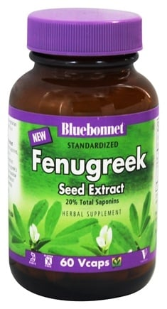 DROPPED: Bluebonnet Nutrition - Standardized Fenugreek Seed Extract 600 mg. - 60 Vegetarian Capsules