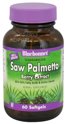 DROPPED: Bluebonnet Nutrition - Standardized Saw Palmetto Berry Extract 160 mg. - 60 Softgels CLEARANCE PRICED