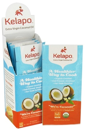 DROPPED: Kelapo - Extra Virgin Coconut Oil - 10 x .5 oz Packets
