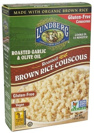 DROPPED: Lundberg - Roasted Brown Rice Couscous Roasted Garlic & Olive Oil - 7 oz.