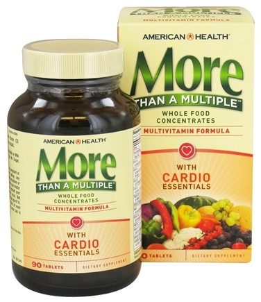 DROPPED: American Health - More Than A Multiple with Cardio Essentials - 90 Tablets CLEARANCE PRICED