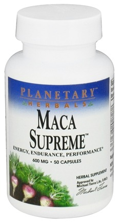 DROPPED: Planetary Herbals - Maca Supreme 600 mg. - 50 Capsules CLEARANCE PRICED