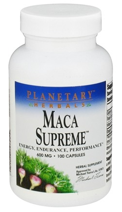 DROPPED: Planetary Herbals - Maca Supreme 600 mg. - 100 Capsules