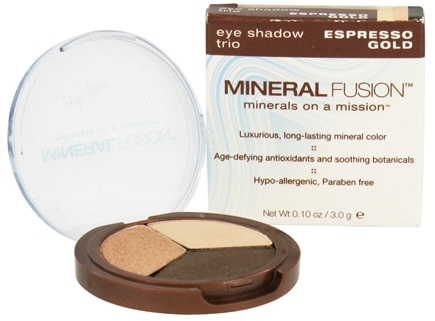 DROPPED: Mineral Fusion - Eye Shadow Trio Espresso Gold - 0.1 oz. CLEARANCE PRICED