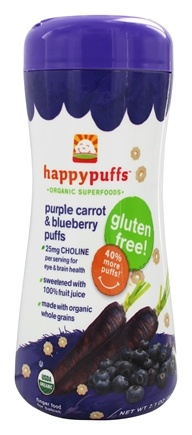 HappyFamily - HappyPuffs Organic SuperFoods Purple Carrot & Blueberry - 2.1 oz.