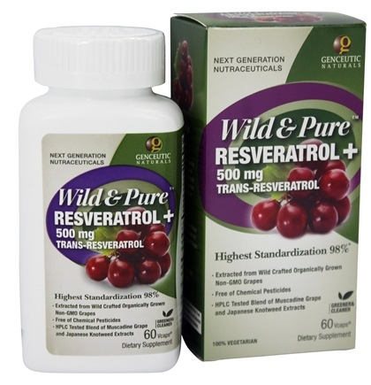 Buy Genceutic Naturals Wild Pure Resveratrol 500 Mg Trans
