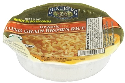 DROPPED: Lundberg - Organic Long Grain Brown Rice Bowl - 7.4 oz. CLEARANCE PRICED