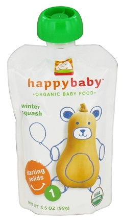 DROPPED: HappyFamily - Organic Baby Food Stage 1 Starting Solids Winter Squash - 3.5 oz. CLEARANCE PRICED