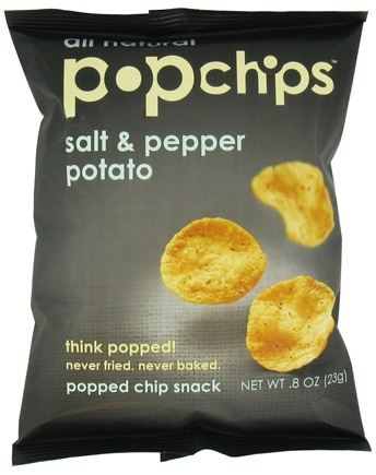 DROPPED: Popchip - Potato Chips All Natural Salt & Pepper - 0.8 oz.