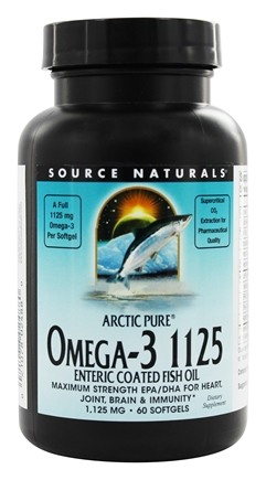 DROPPED: Source Naturals - ArcticPure Omega-3 Fish Oil 1125 mg. - 60 Enteric Coated Softgels