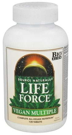 DROPPED: Source Naturals - Life Force Vegan Multiple - 120 Tablets CLEARANCE PRICED