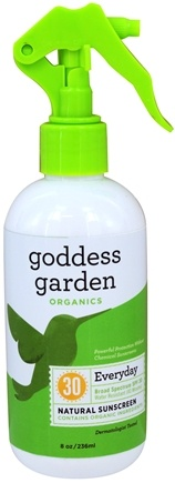 Goddess Garden - Everyday Natural Sunscreen 30 SPF - 8 oz. Formerly Goddess Garden - Sunny Body Natural Sunscreen Spray