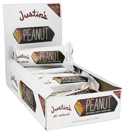 DROPPED: Justin's Nut Butter - Dark Chocolate Candy Bar Peanut - 2 oz.
