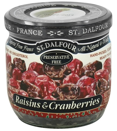 DROPPED: St. Dalfour - Super Plump Raisins & Cranberries - 7 oz. CLEARANCE PRICED