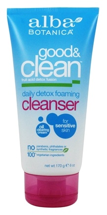 Alba Botanica - Good & Clean Daily Detox Foaming Cleanser - 6 oz.