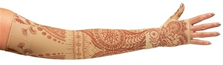 LympheDIVAs - Arm Sleeve Class 2 Regular with Diva Diamond Band Bodhi - Beige - Medium
