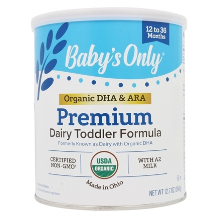 Baby's Only - Organic Dairy Based Iron Fortified Toddler Formula with DHA and ARA - 12.7 oz.