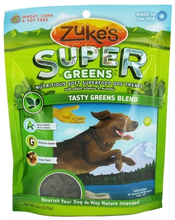 DROPPED: Zuke's - Super Greens Soft Dog Treats Tasty Greens Blend - 6 oz. CLEARANCE PRICED