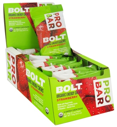 DROPPED: Pro Bar - Bolt Organic Energy Chews Strawberry - 2.1 oz. CLEARANCE PRICED