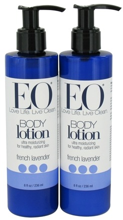 DROPPED: EO Products - Body Lotion French Lavender Bonus Pack 2 x 8 fl oz.