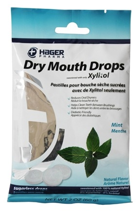 Hager Pharma - Dry Mouth Drops Mint - 2 oz.