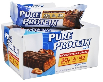 Pure Protein - Bar Chocolate Peanut Caramel - 6 x 1.76 oz. Bars