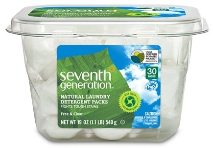 DROPPED: Seventh Generation - Natural Laundry Detergent Packs Free & Clear - 30 Pack(s) CLEARANCE PRICED