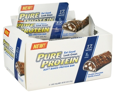 DROPPED: Pure Protein - Soft Baked Protein Bar Double Chocolate Vanilla Crunch - 6 x 1.58 oz. Bars