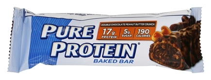 DROPPED: Pure Protein - Soft Baked Protein Bar Double Chocolate Peanut Butter Crunch - 6 x 1.58 oz. Bars
