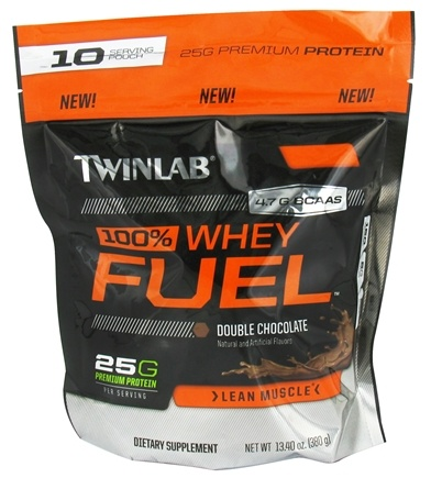 DROPPED: Twinlab - 100% Whey Fuel Pouch Double Chocolate - 13.4 oz. CLEARANCE PRICED