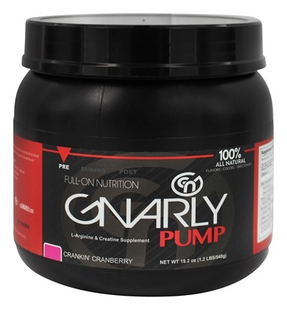 DROPPED: Gnarly Nutrition - Pump L-Arginine & Creatine Supplement Crankin' Cranberry - 19.2 oz.