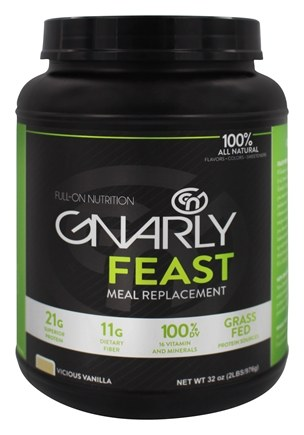 Gnarly Nutrition - Feast Meal Replacement Grass Fed Vicious Vanilla - 32 oz.