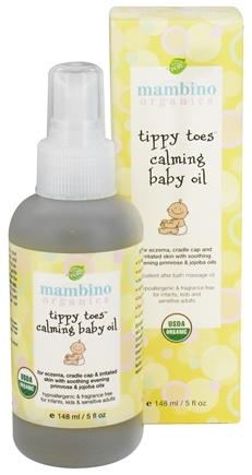 DROPPED: Mambino Organics - Tippy Toes Calming Baby Oil - 5 oz. CLEARANCE PRICED