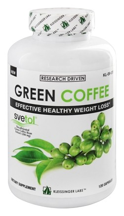DROPPED: Kleissinger Labs - Green Coffee Extract with Svetol - 120 Capsules