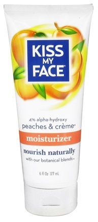 DROPPED: Kiss My Face - Moisturizer with 4% Alpha-Hydoxy Peaches & Creme - 6 oz.