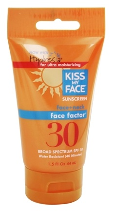 DROPPED: Kiss My Face - Face Factor Face and Neck Sunscreen with Hydresia 30 SPF - 1.5 oz.