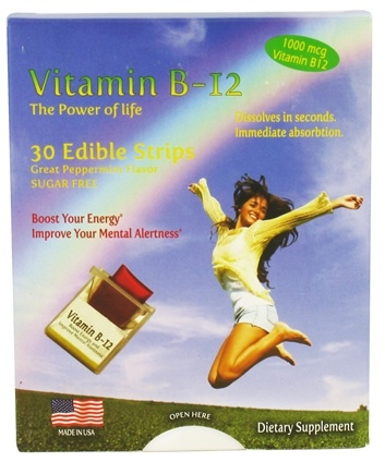 DROPPED: Neutralean - Vitamin B12 The Power of Life Peppermint 1000 mcg. - 30 Strip(s) CLEARANCED PRICED