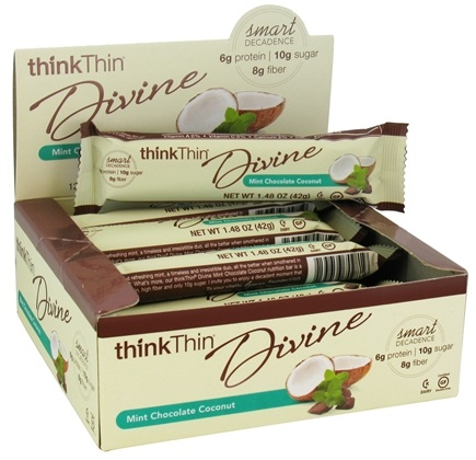 DROPPED: Think Products - thinkThin Divine Bar Mint Chocolate Coconut - 1.48 oz.