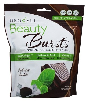 NeoCell - Beauty Bursts Gourmet Collagen Fresh Mint Chocolate - 60 Soft Chews