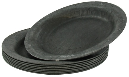 "DROPPED: Susty Party - Compostable Disposable Plates 10"" Black - 8 Count CLEARANCED PRICED"