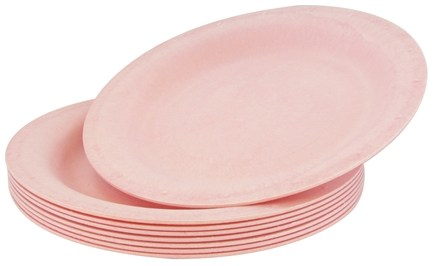 "DROPPED: Susty Party - Compostable Disposable Plates 10"" Pink - 8 Count CLEARANCED PRICED"