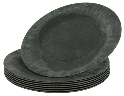 "DROPPED: Susty Party - Compostable Disposable Plates 7"" Black - 8 Count CLEARANCED PRICED"