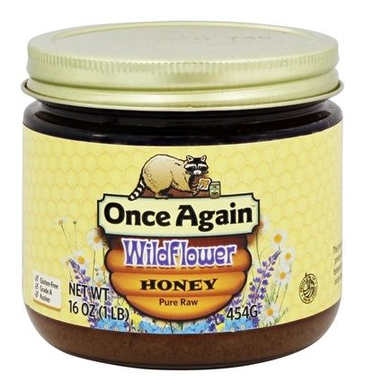 Once Again - Pure Raw Wildflower Honey - 16 oz. Formerly Dawes Hills Pure Raw Grade A