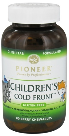DROPPED: Pioneer - Children's Cold Front Berry - 60 Chewables CLEARANCE PRICED