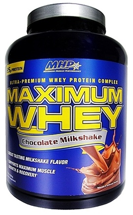 DROPPED: MHP - Maximum Whey Ultra-Premium Whey Protein Complex Chocolate Milkshake - 5 lbs. CLEARANCED PRICED