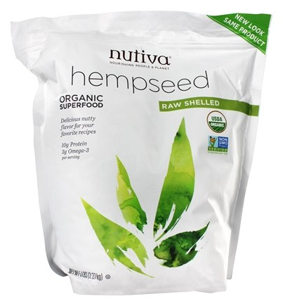 Nutiva - Organic Hemp Seed Raw Shelled - 5 lbs.
