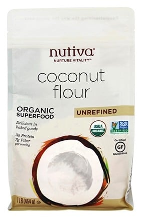 Nutiva - Organic Superfood Unrefined Coconut Flour - 1 lb.