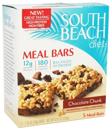DROPPED: South Beach Diet - Meal Bars Chocolate Chunk - 5 Bars