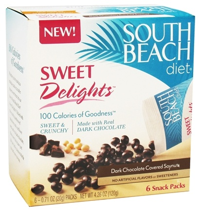DROPPED: South Beach Diet - Sweet Delights Dark Chocolate Covered Soynuts - 6 Pack(s) CLEARANCE PRICED
