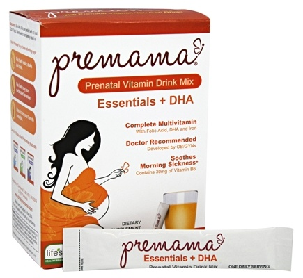 Premama - Prenatal Vitamin Drink Mix Citrus - 3.74 oz.